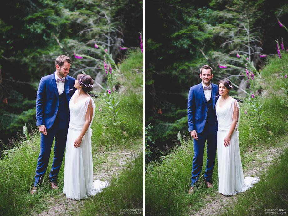 photographe mariage champêtre le chauffour fun original sainte