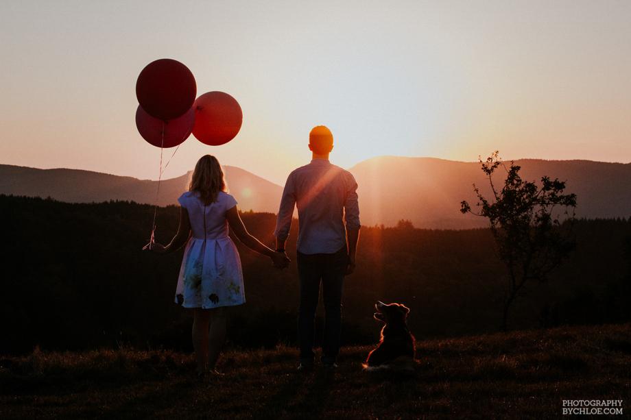 Photographe mariage strasbourg seance engagement champetre monta